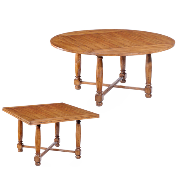 Superieur 53954 Square To Round Table