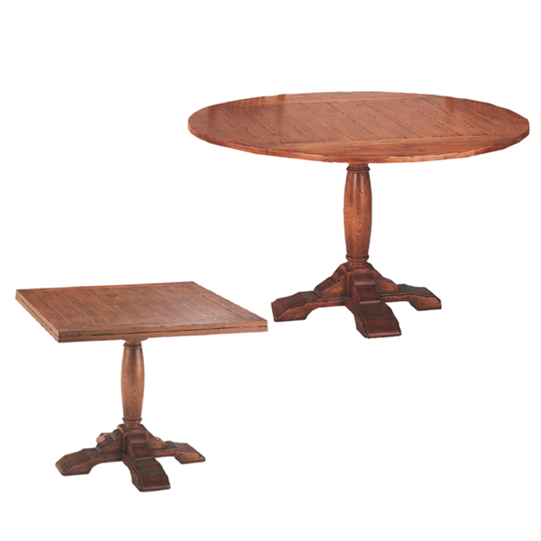 Superbe 54438 English Square To Round Pedestal Table