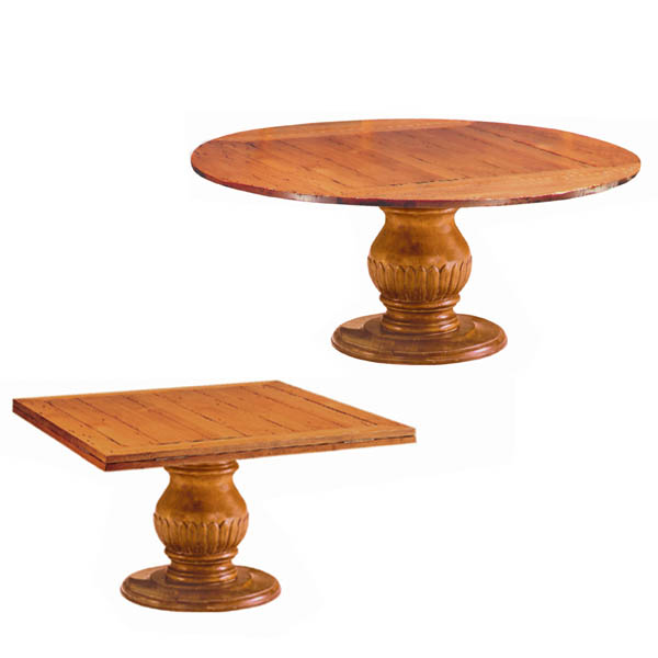66039 Square to Round Dining Table