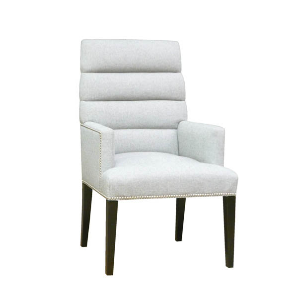 15221-H Tapered Back Channeled Arm Chair