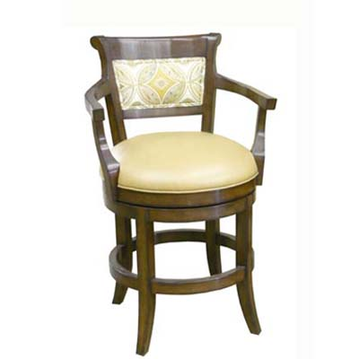 14661 Veranda Upholstered Back Swivel Barstool With Arms (Counter Height)