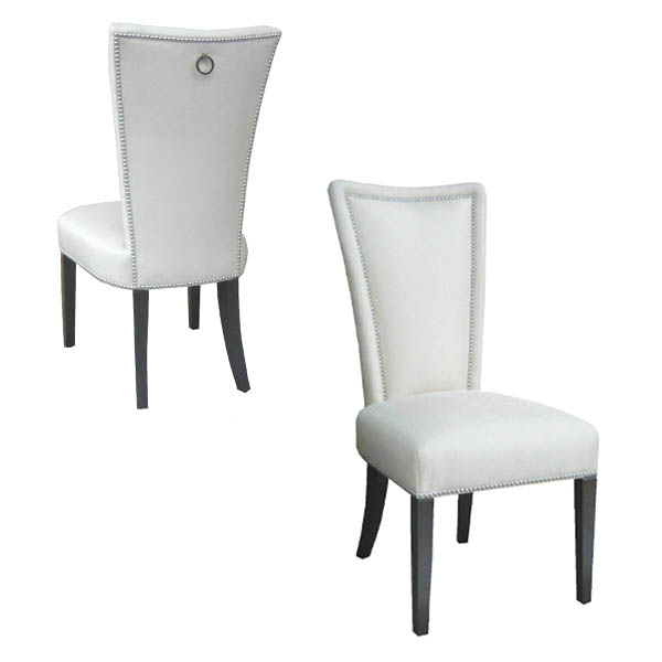 15500-R Upholstered Side Chair + Ring Pull