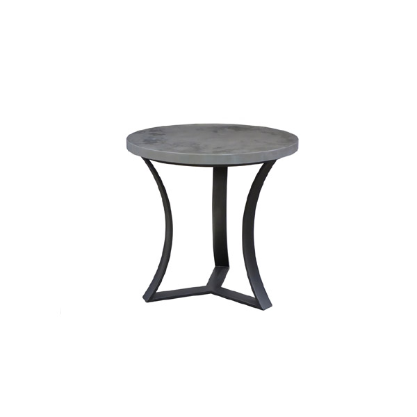 10300 Iron End Table + Concrete Finish Top
