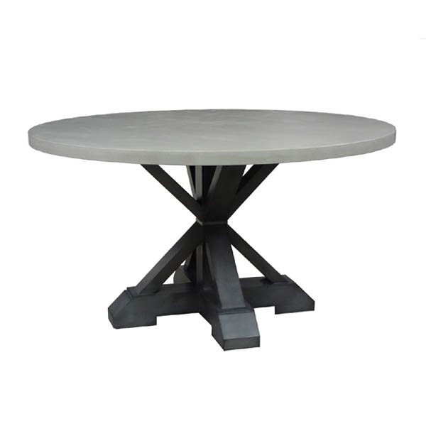 Concrete Top Dining Table Round Room Ideas