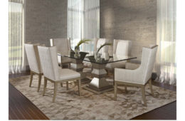 Pedestal Bases + Upholstered Wing Arm Chairs
