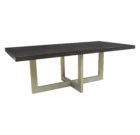 294284 Mirage Dining Table + 2 1/2 Thick Slab Top