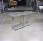 Moderne Console Table Slate Finish